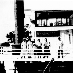 P.S. Captain Sturt with Captain Johnson and others on deck