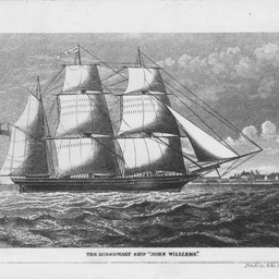 Lithograph of the 'John Williams'