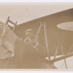 Ross Smith in the Vickers Vimy at Parafield.