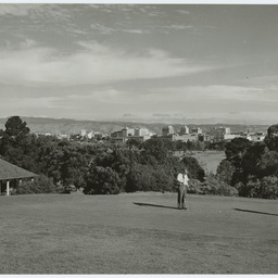Playing golf at North Adelaide, South Australia
