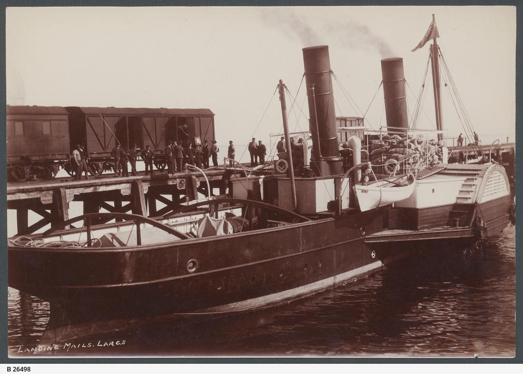 Landing Mail, Largs Bay