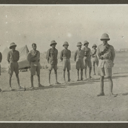 Soldiers in a camp.