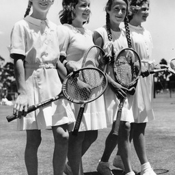 Four young tennis players