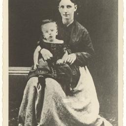 Margaret Neilson with her son John Shaw Neilson