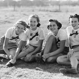 Competitors in the Western Districts Women's Athletics Club Chamiponship
