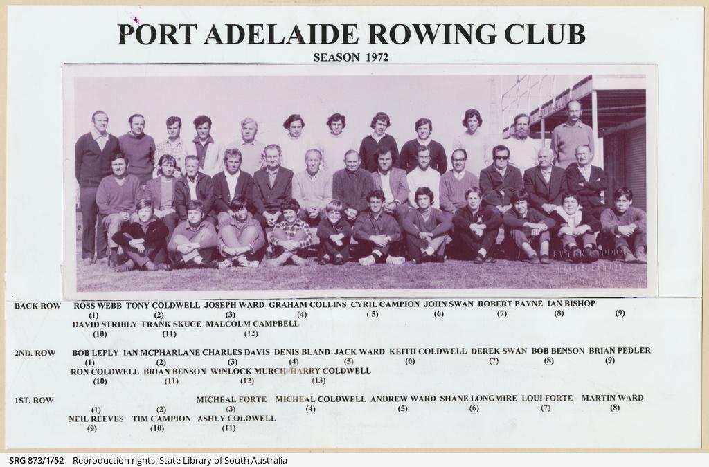Port Adelaide Rowing Club season 1972