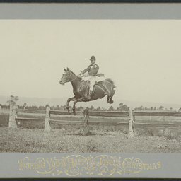 Bert White on his horse at Fulham
