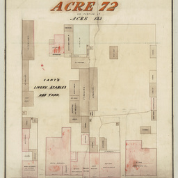 Plan of Town Acre 72 and portion of Acre 115 [cartographic material] / W. Wadham, Surveyor
