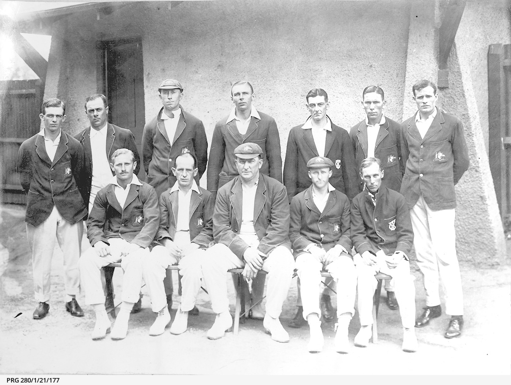 Group of cricketers representing Australia
