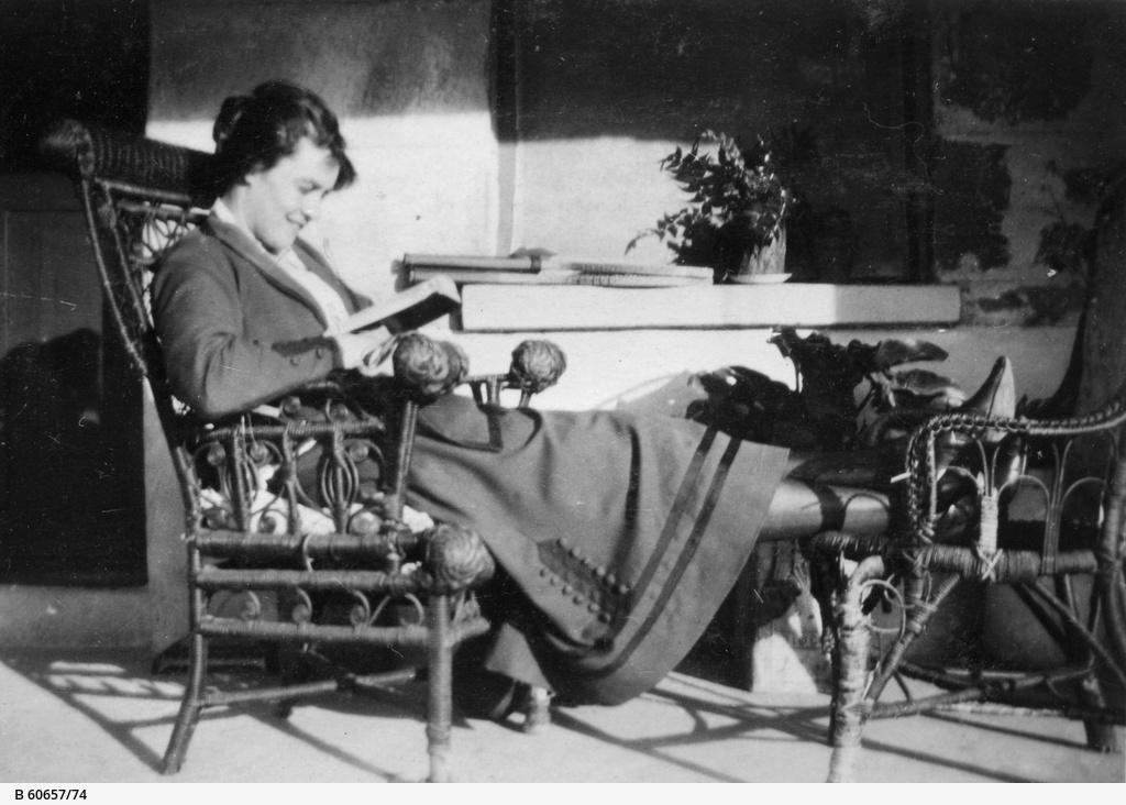 Woman on verandah