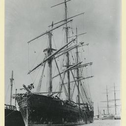 The 'Torrens' in Port Adelaide after striking an iceberg