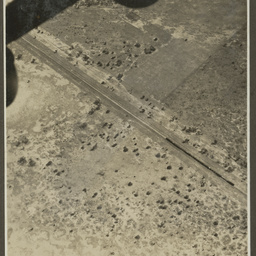 Aerial view of a railway.