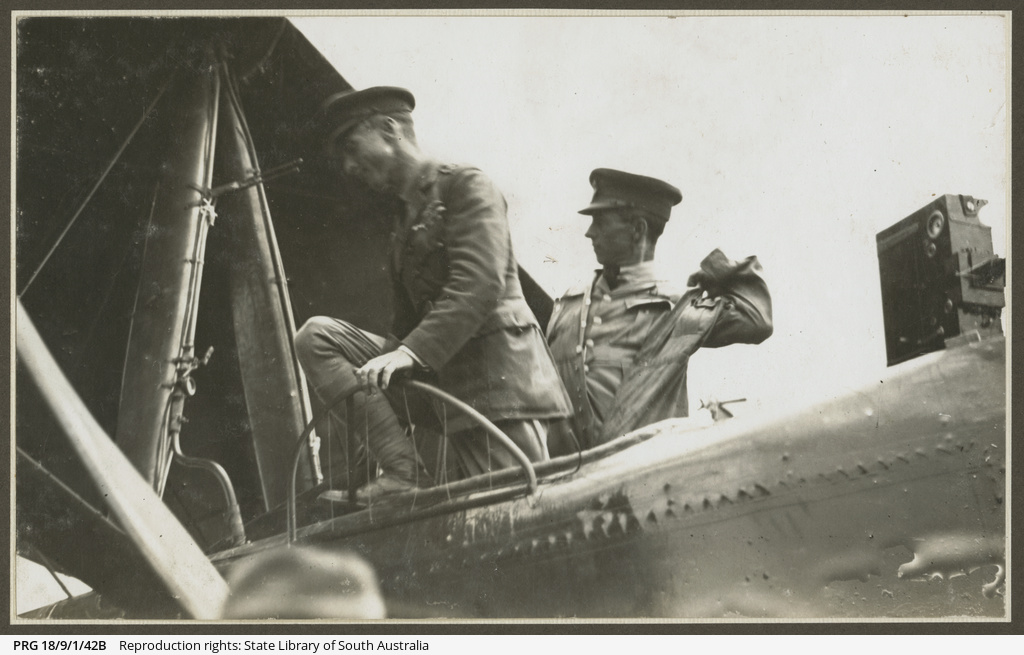Ross and Keith Smith arriving at Sydney.