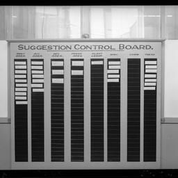 Suggestion board in W. Smith's office