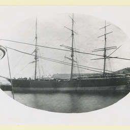 The 'Torrens' at Port Adelaide with new bow and spike bowsprit