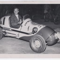 Kym 'Bullo' Bonython in Speedway car No. 1