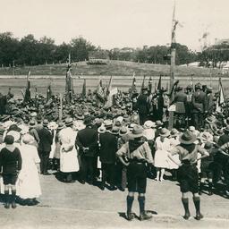 Boy scouts at Jubilee oval