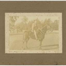 S.A. White on his horse