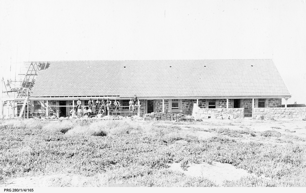 Lighthouse cottages under construction on Neptune Island