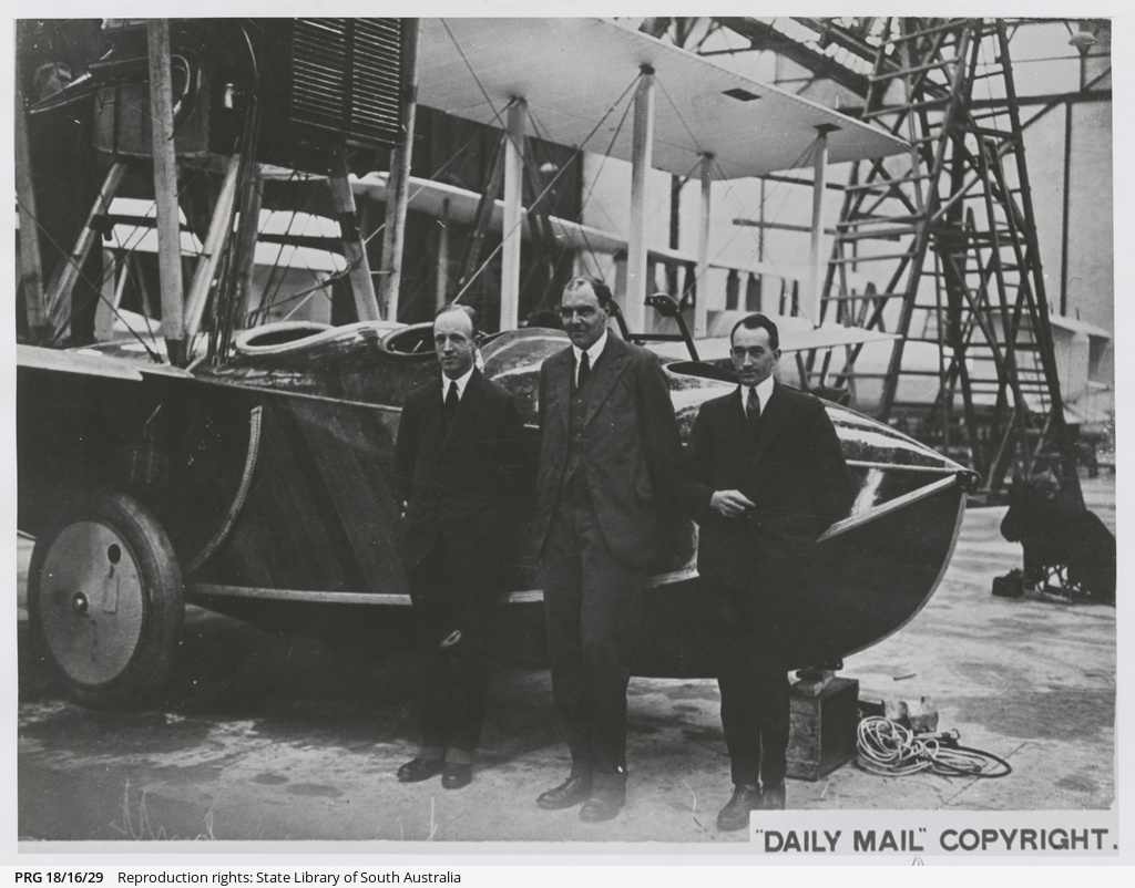 Ross Smith, James Bennet and Pierson with Vickers Viking.