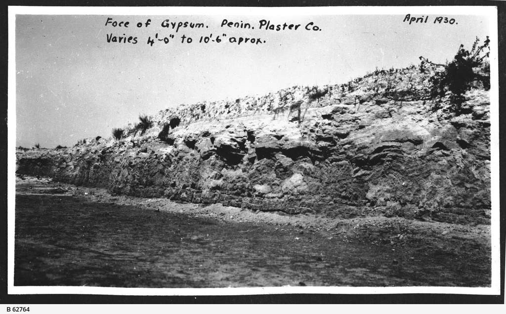 Gypsum at Inneston, South Australia