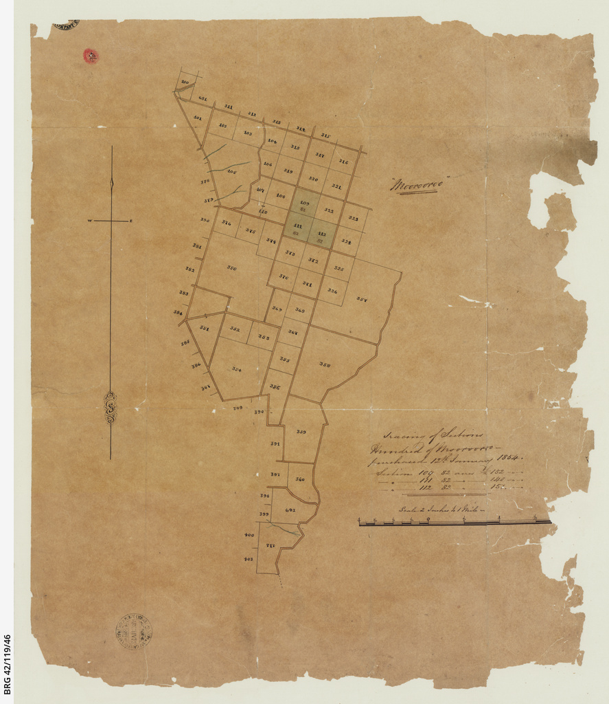 Tracing of sections, Hundred of Moorooroo [cartographic material]