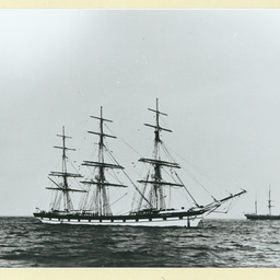 The 'British Commodore' at anchor