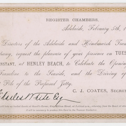 Invitation received by Charles White