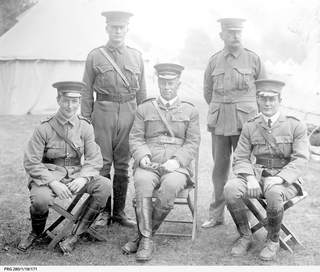 Five Australian army officers