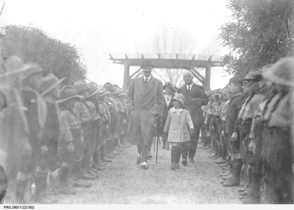 Sir Archibald Weigall at Wattle Day ceremony