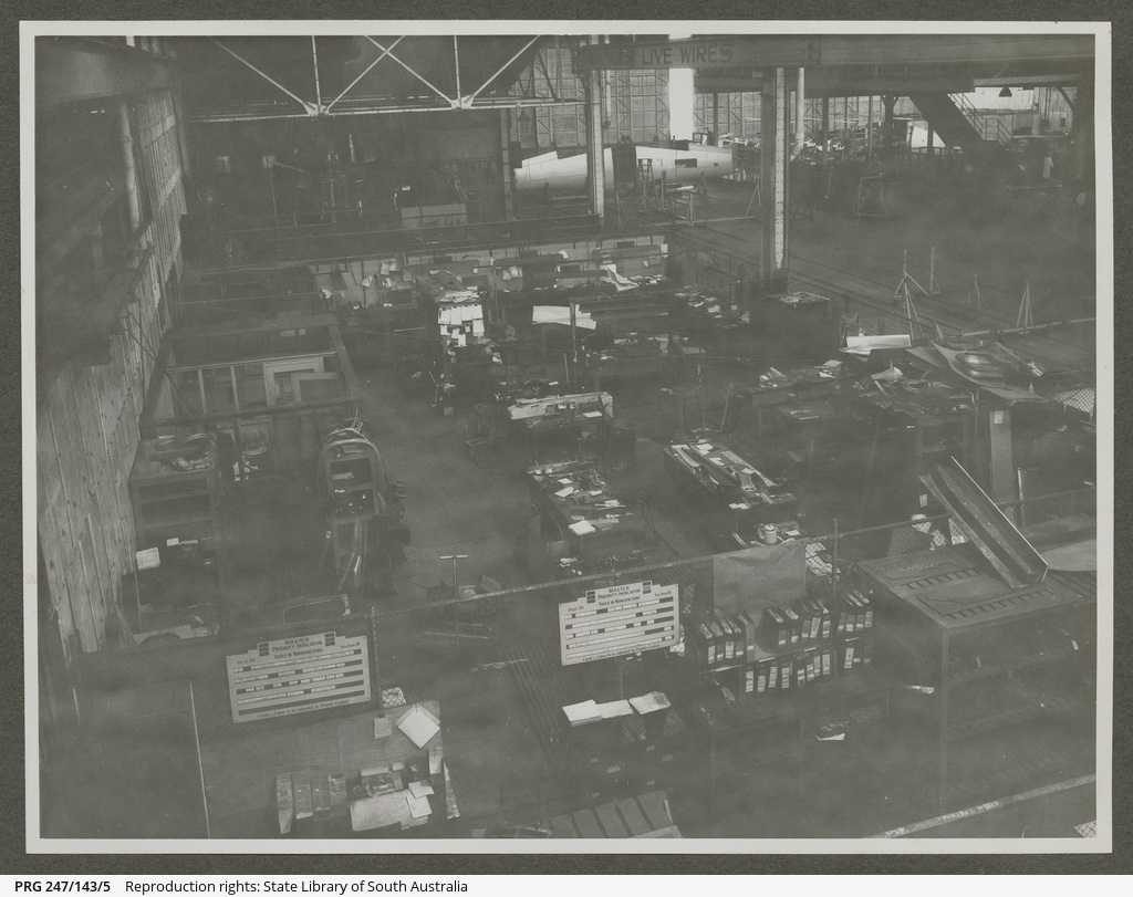Factory floor, Commonwealth Aircraft Corporation.