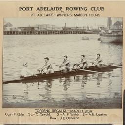Port Adelaide Rowing Club Maiden Fours, Torrens Regatta 1904