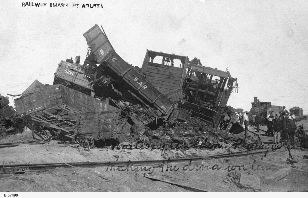 Train accident on the Great Northern Railway line