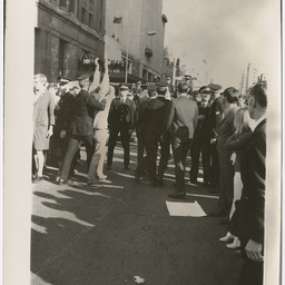Police and crowd at the Vietnam War Moratorium rally