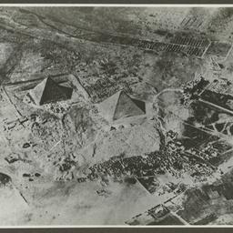 Aerial view of Pyramids, Egypt.