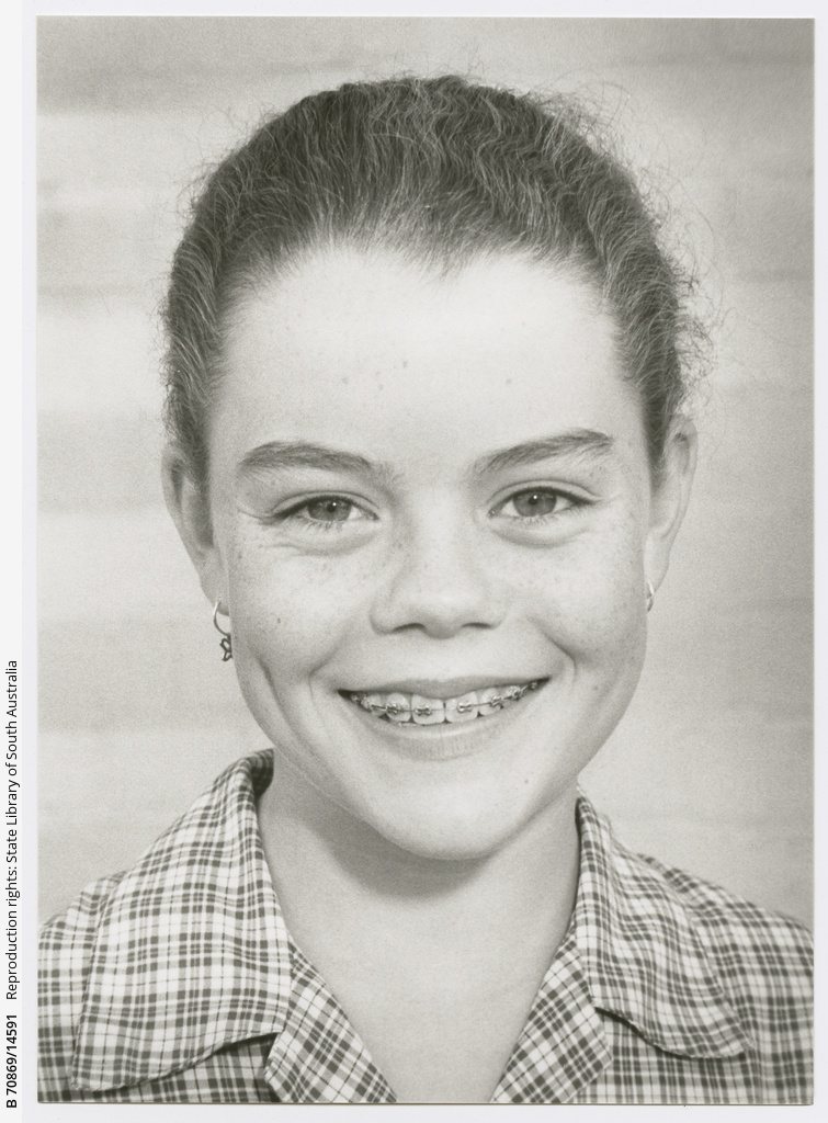 """Emily Combe aged 12 of Glenunga, in """"Mrs Myrtle"""" production."""