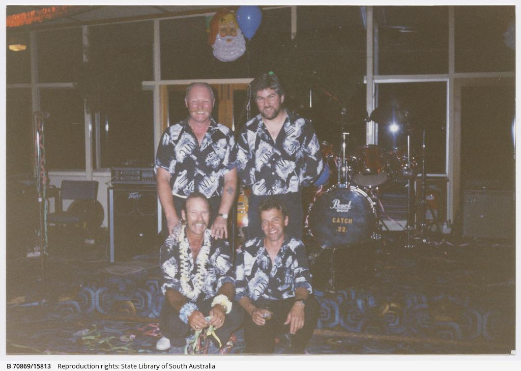 Catch 22, (left to right) Jimbo, Trevor, Giff, Ken. New Years Eve, Nuriootpa Hotel.