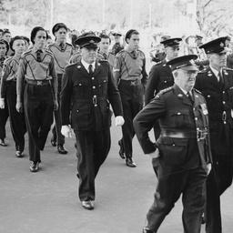 St John's Ambulance Brigade personnel