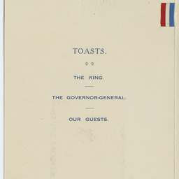 Luncheon menu of Federal Parliament House in honour of Sir Ross Smith and crew.