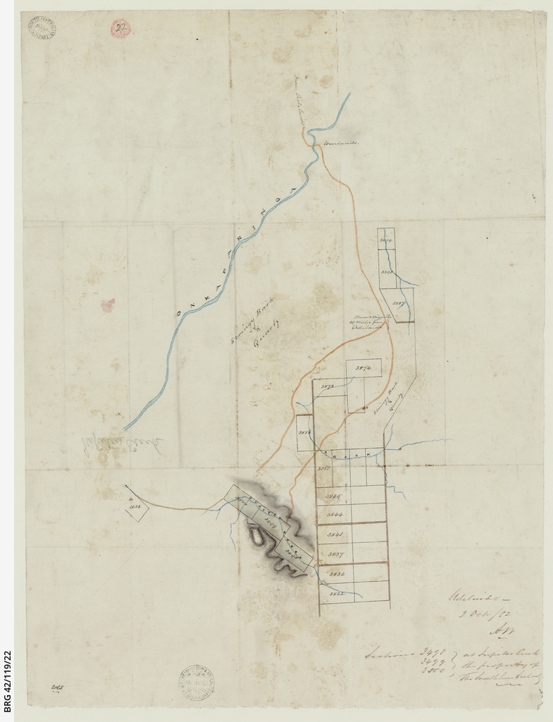 [Map of sections at Jupiter Creek] [cartographic material]