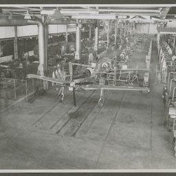 A68 Mustang production line.bnProduction line of A68 Mustangs in the CAC factories, Fishermans Bend.