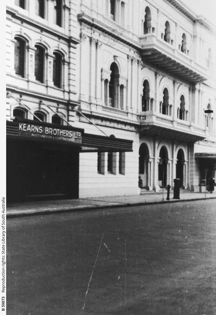 Premises of the 'People's Palace', Pirie Street