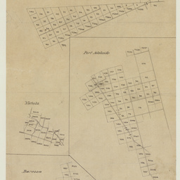 [Tracing showing sections in Hundreds of Port Gawler, Port Adelaide, Yatala, Barossa and Monarto (parts)] [cartographic material]