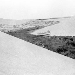 Large sand dunes on Younghusband Peninsula opposite Loveday Bay