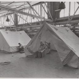 Finishing tents for the Australian Army.