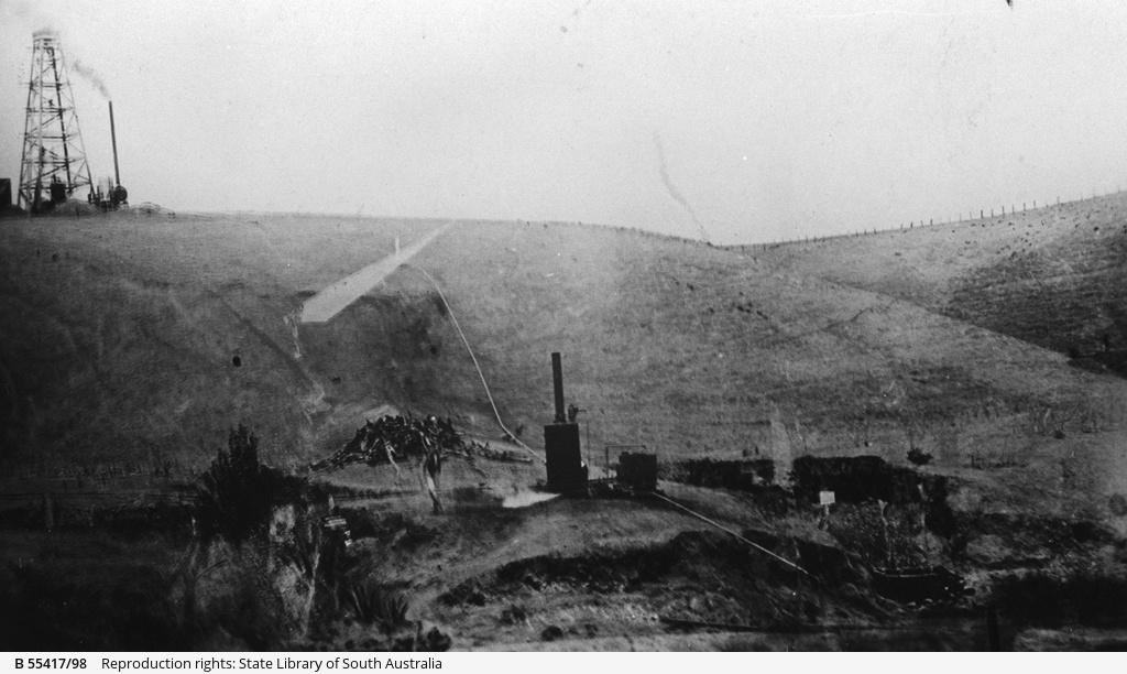 Brown coal mine and dump at Noarlunga