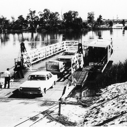 Berri ferry with cars driving off