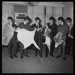 The Beatles during a press conference in Adelaide