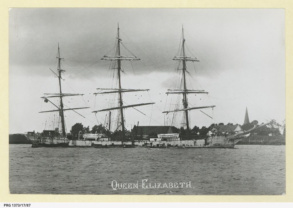 The 'Queen Elizabeth' in the River Scheldt