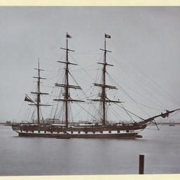 The 'Alnwick Castle' moored at Gravesend, U.K.